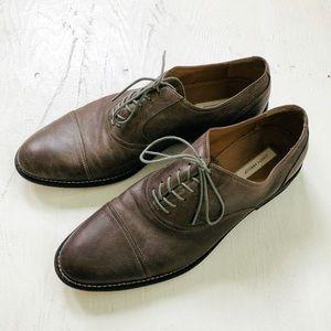 EUC Joseph Abboud Gray Oxford Dress Shoes